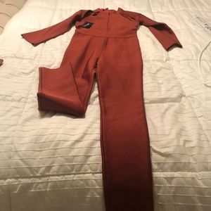 Posh shop bandage jumpsuit NWT
